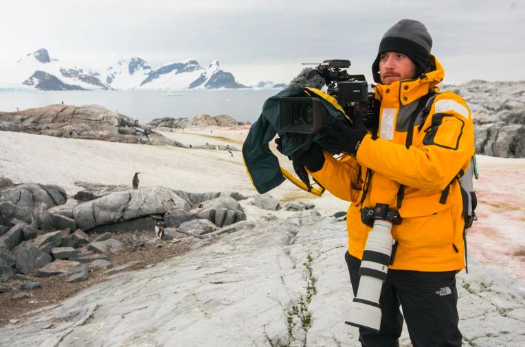 Fraser Morton in Antarctica. Photo: Trent T Branson