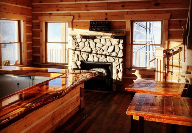 The Mid Mountain Cabin features comforting alpine cuisine like ... clam chowder (need dishes)
