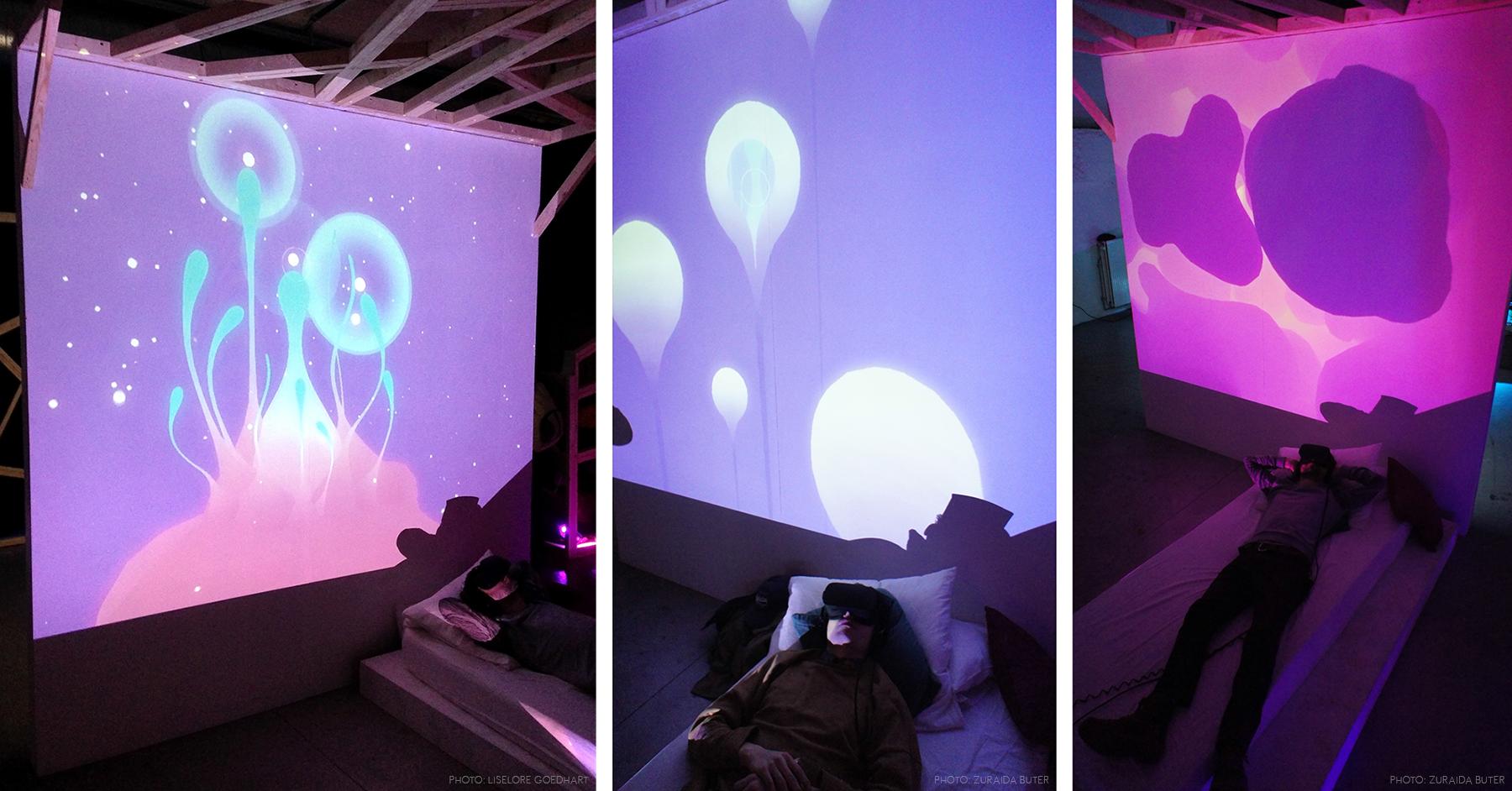 Second + third photo courtesy of  zo-ii , exhibition setup by Zuraida Buter & Screenshake