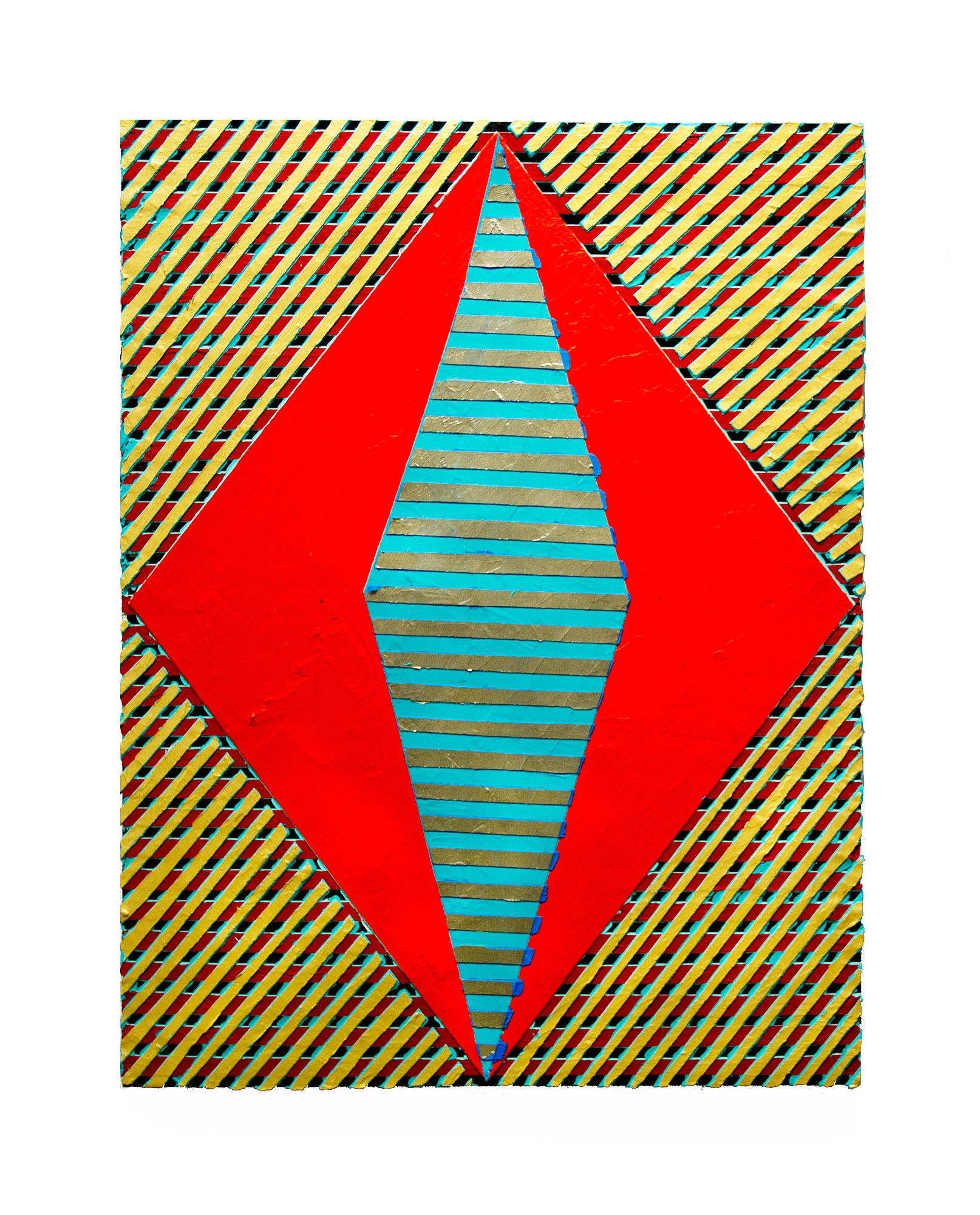 "2017 ""Resist (13)""   Acrylic on Masonite  24H x 18W"