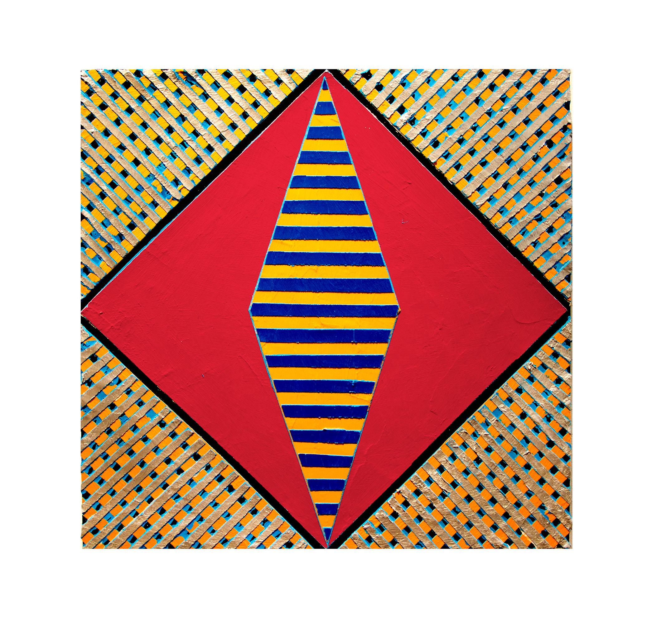 "2017  ""Resist"" (6)""  Acrylic on Masonite 16H x 16W"