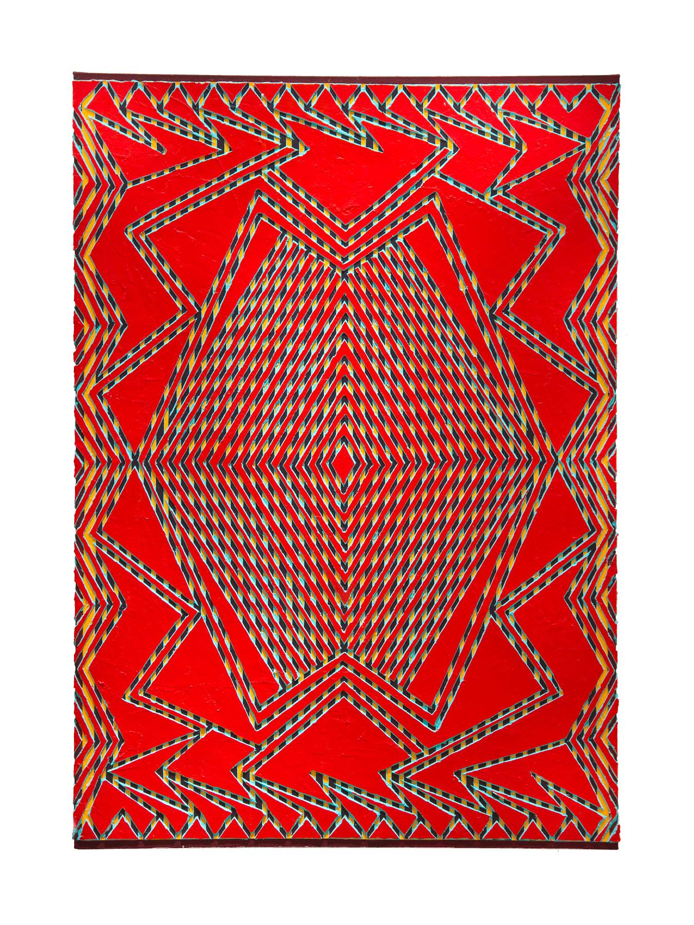 """2011 """"Tsunami""""  Acrylic on Canvas 48H x 34W"""