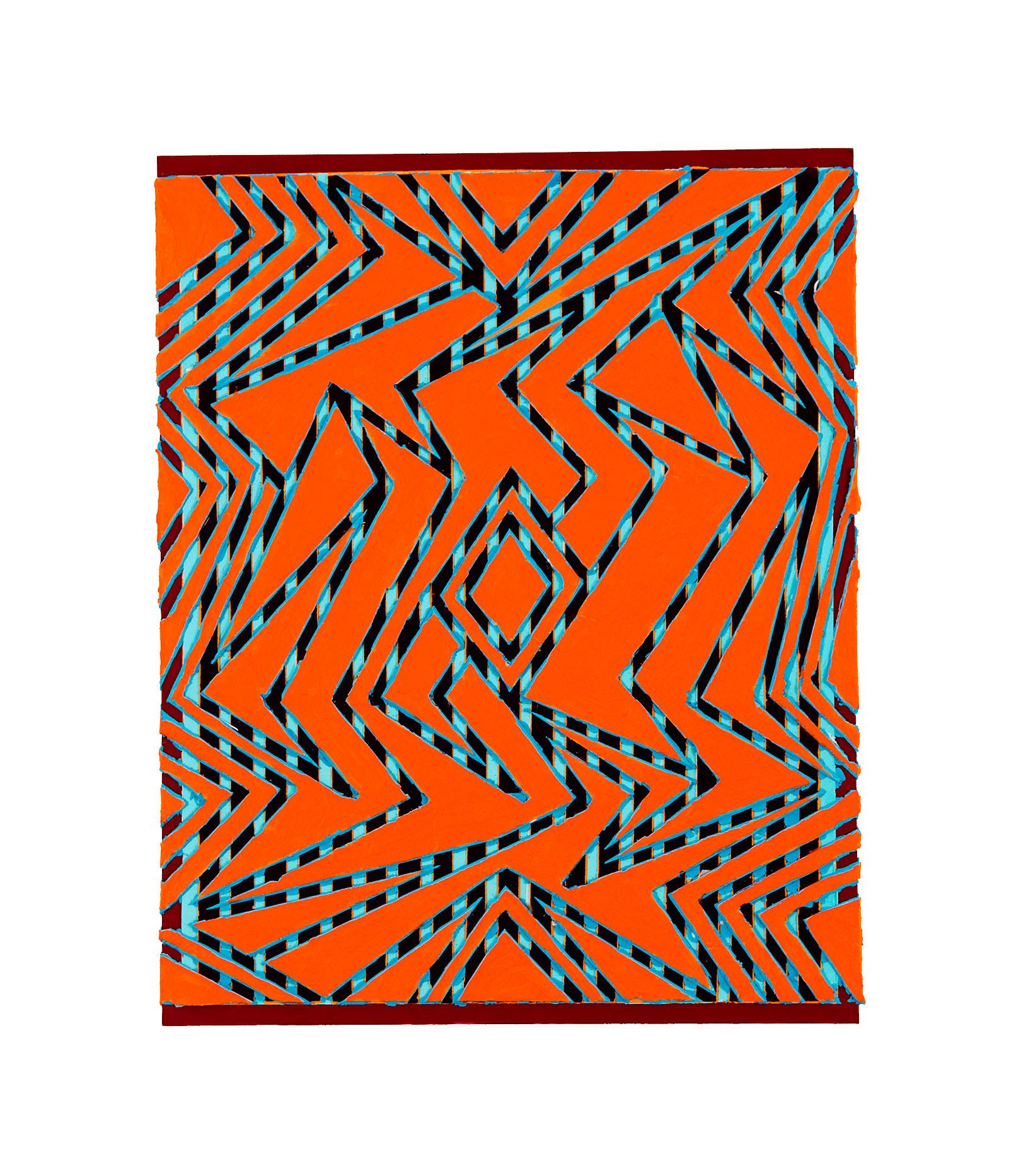 """2010 """"Ebb & Flow""""  Acrylic on Masonite 20H X 16W"""