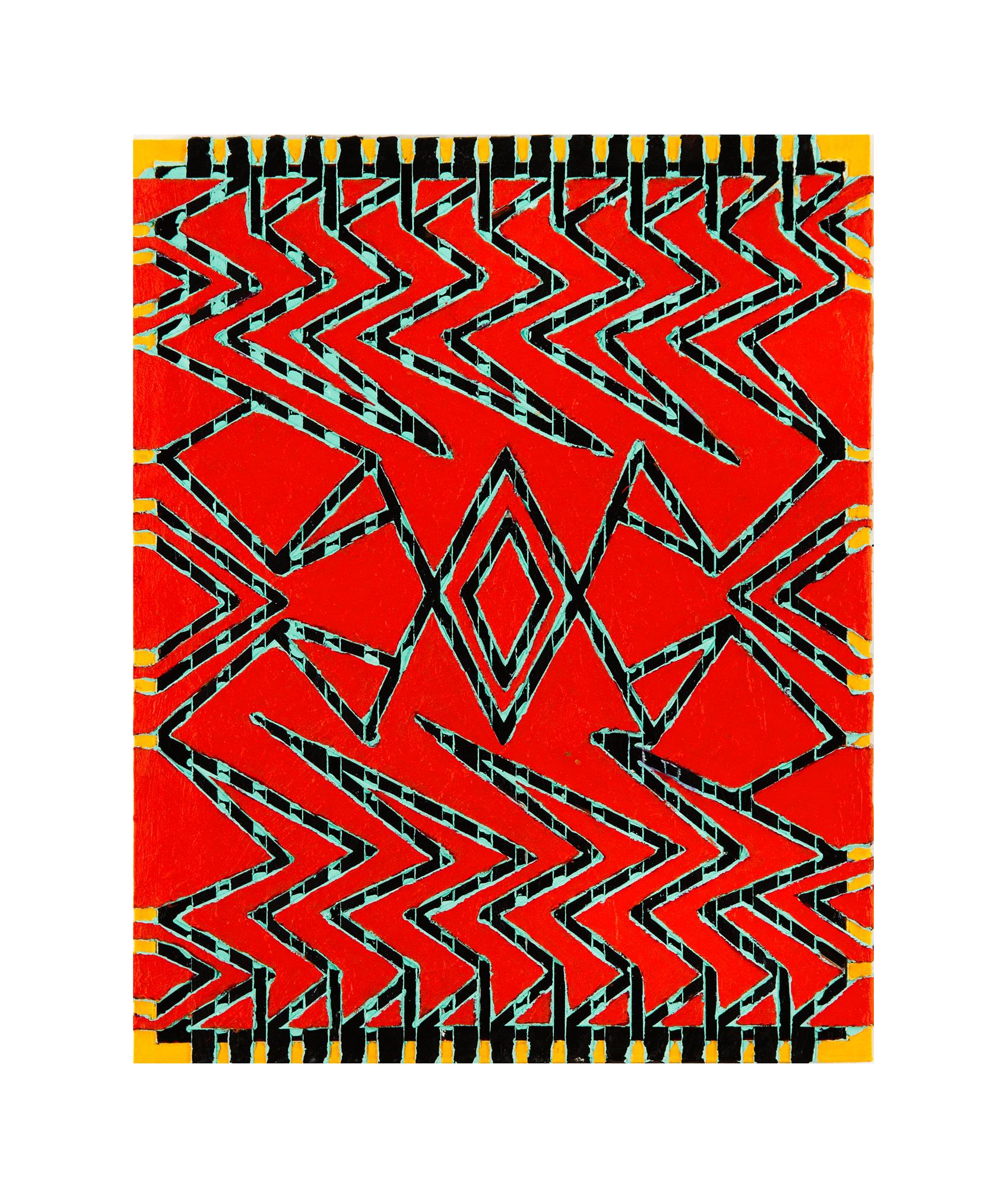"2010 ""ReRun""  Acrylic on Masonite 20H X 16W"