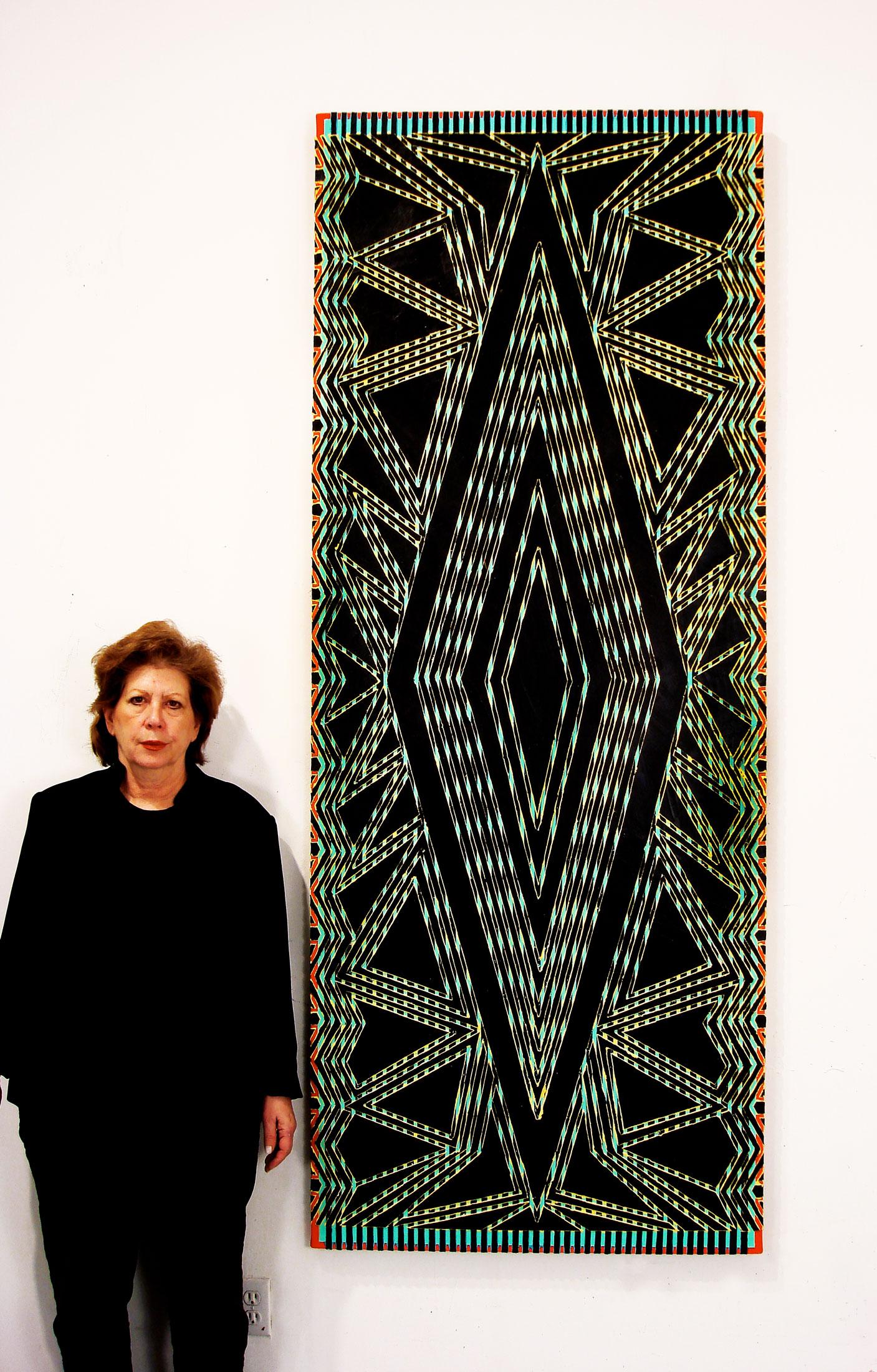 """2008  """"Jezabel"""" w. Susan  Acrylic on Canvas 84H x 33W"""