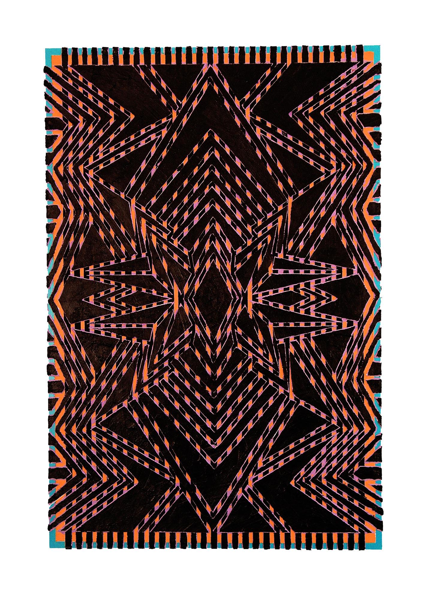 "2005  ""Medina""  Acrylic on Masonite  36H x 24 W"
