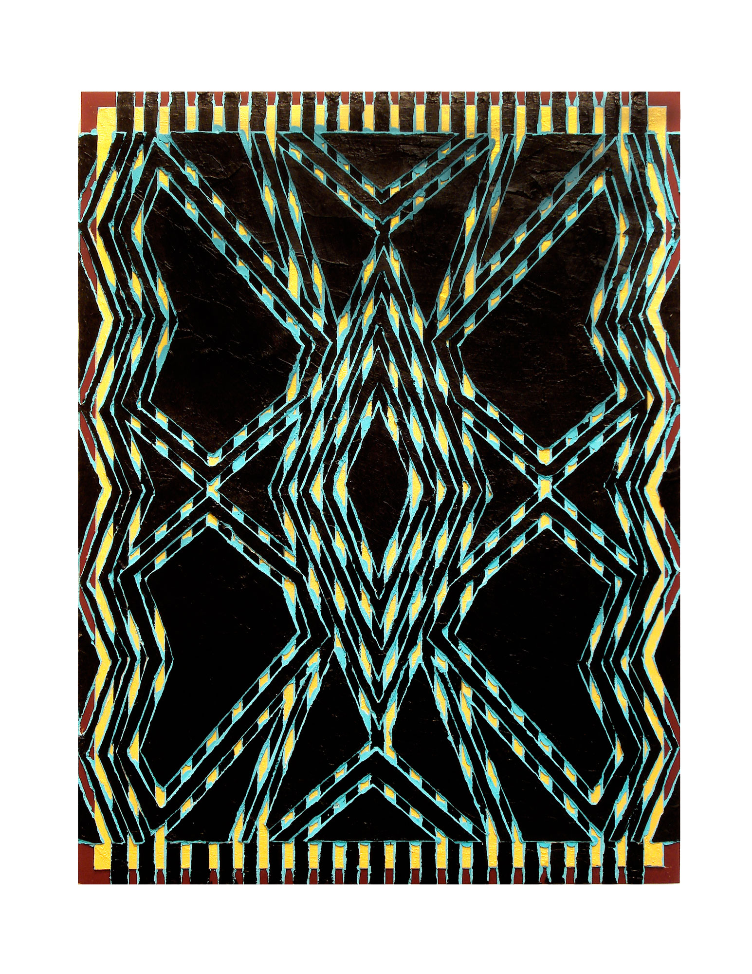 "2005  ""Butterfly""  Acrylic on Masonite 24H x 18W"