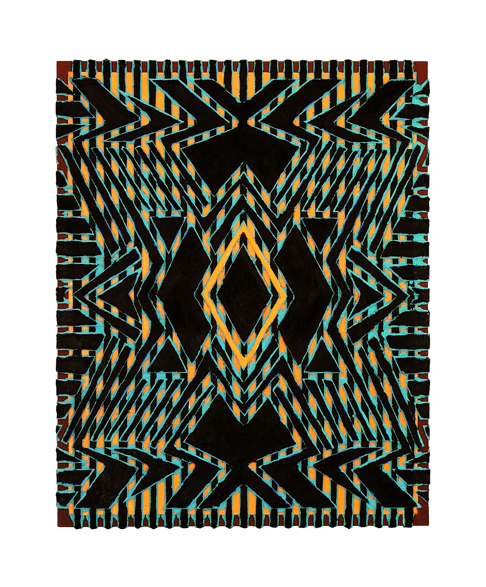 "2005 ""Azteca""  Acrylic on Masonite 20H x 16W"