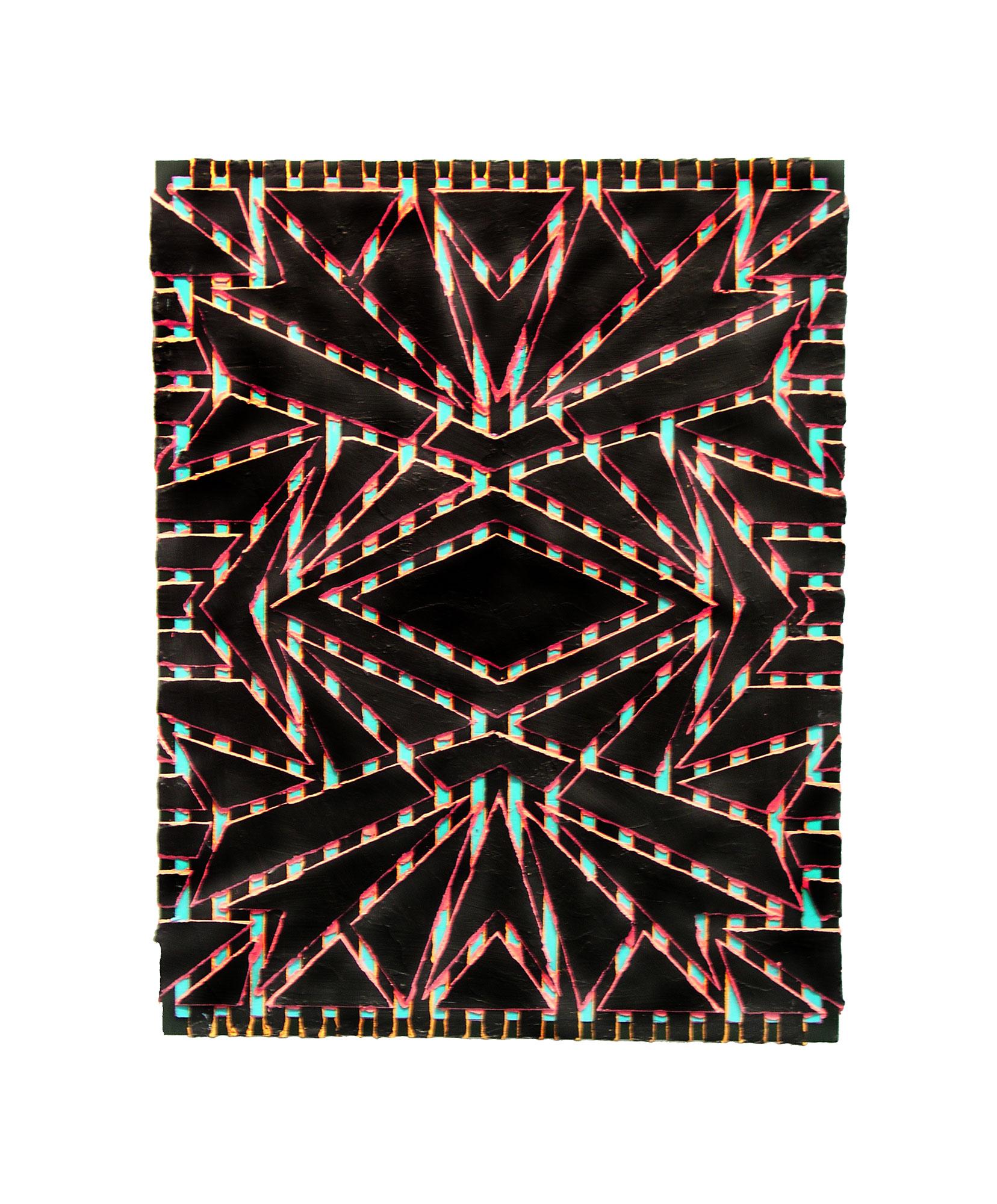 """2005 """"Fanfare""""  Acrylic on Masonite 18H x 14W"""