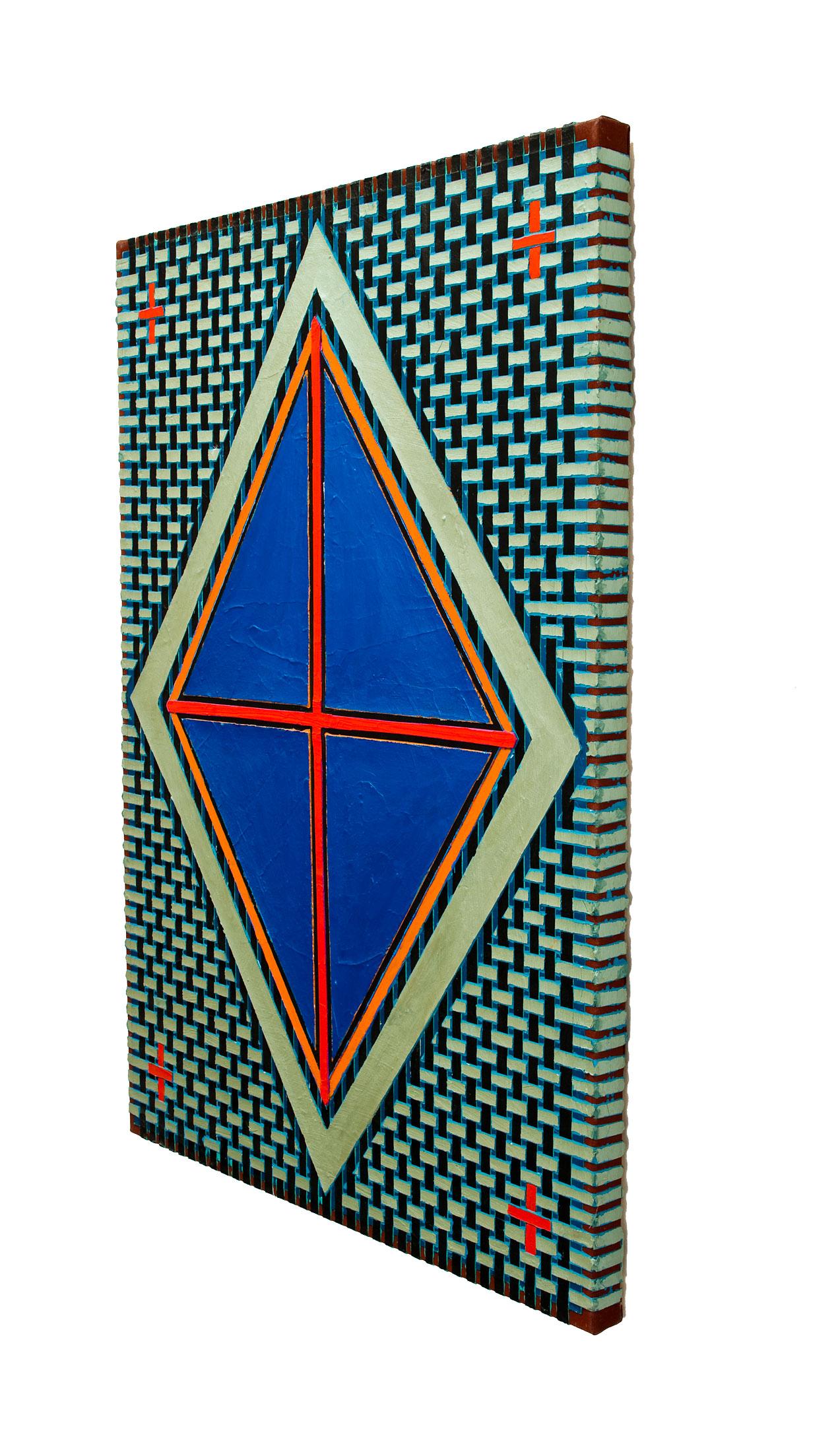 """2004 """"Blue Diamond w. Red Cross""""        Side View"""