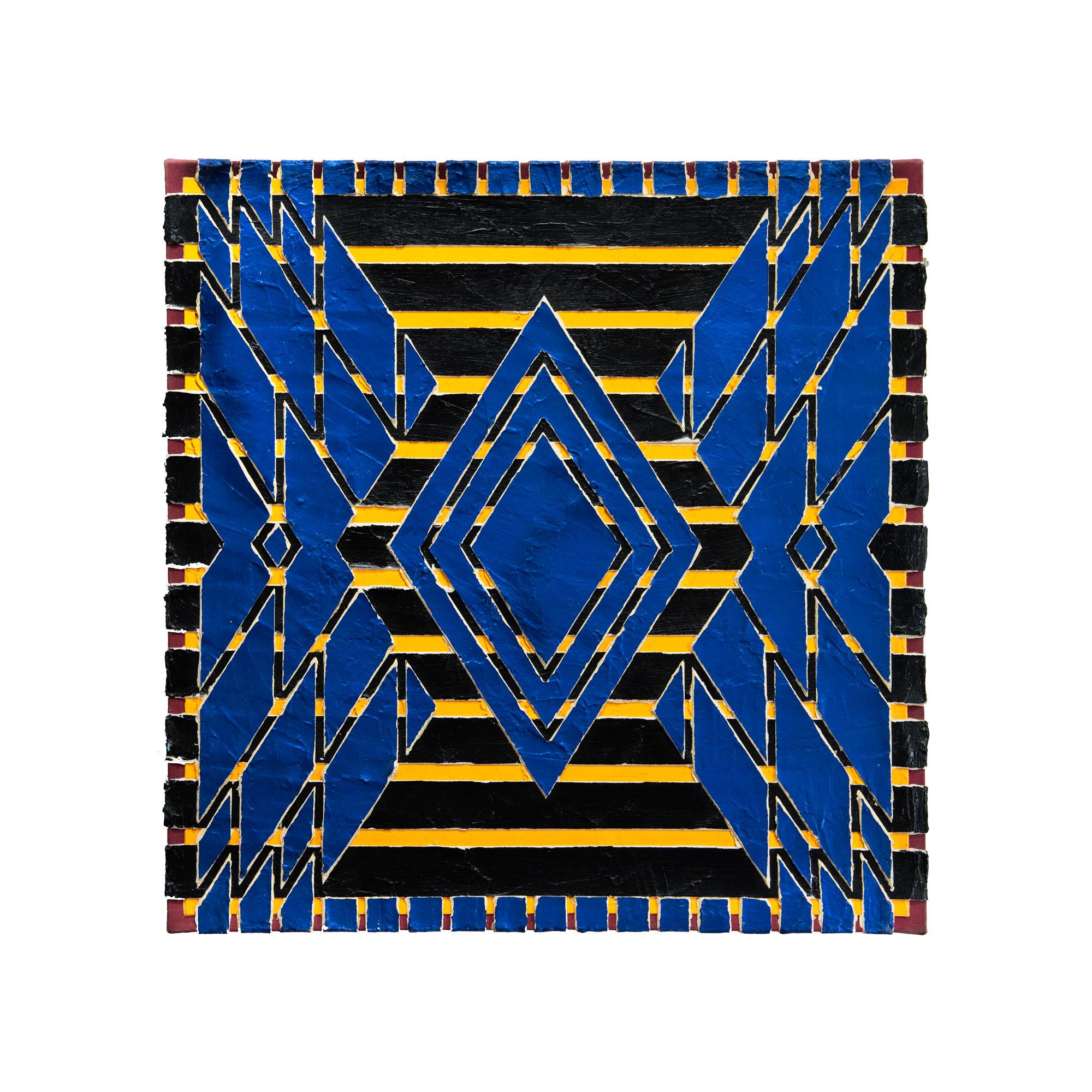 """1981 """"Amphora w. Blue""""  Acrylic on Canvas 24H x 24w"""