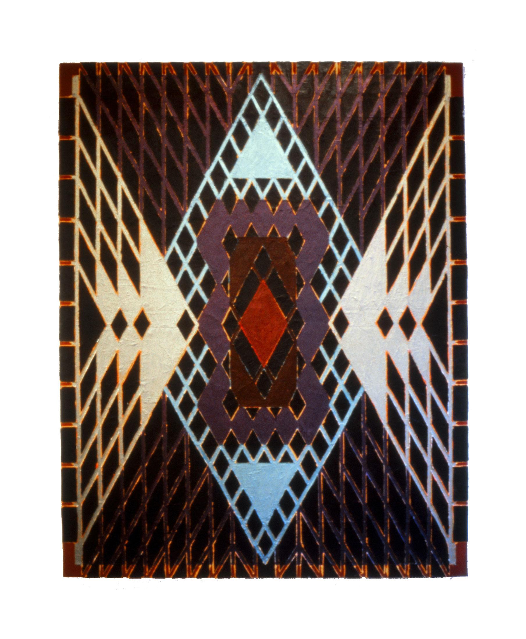 "1981 ""Soothsayer""  Acrylic on Canvas 84H x 66W"