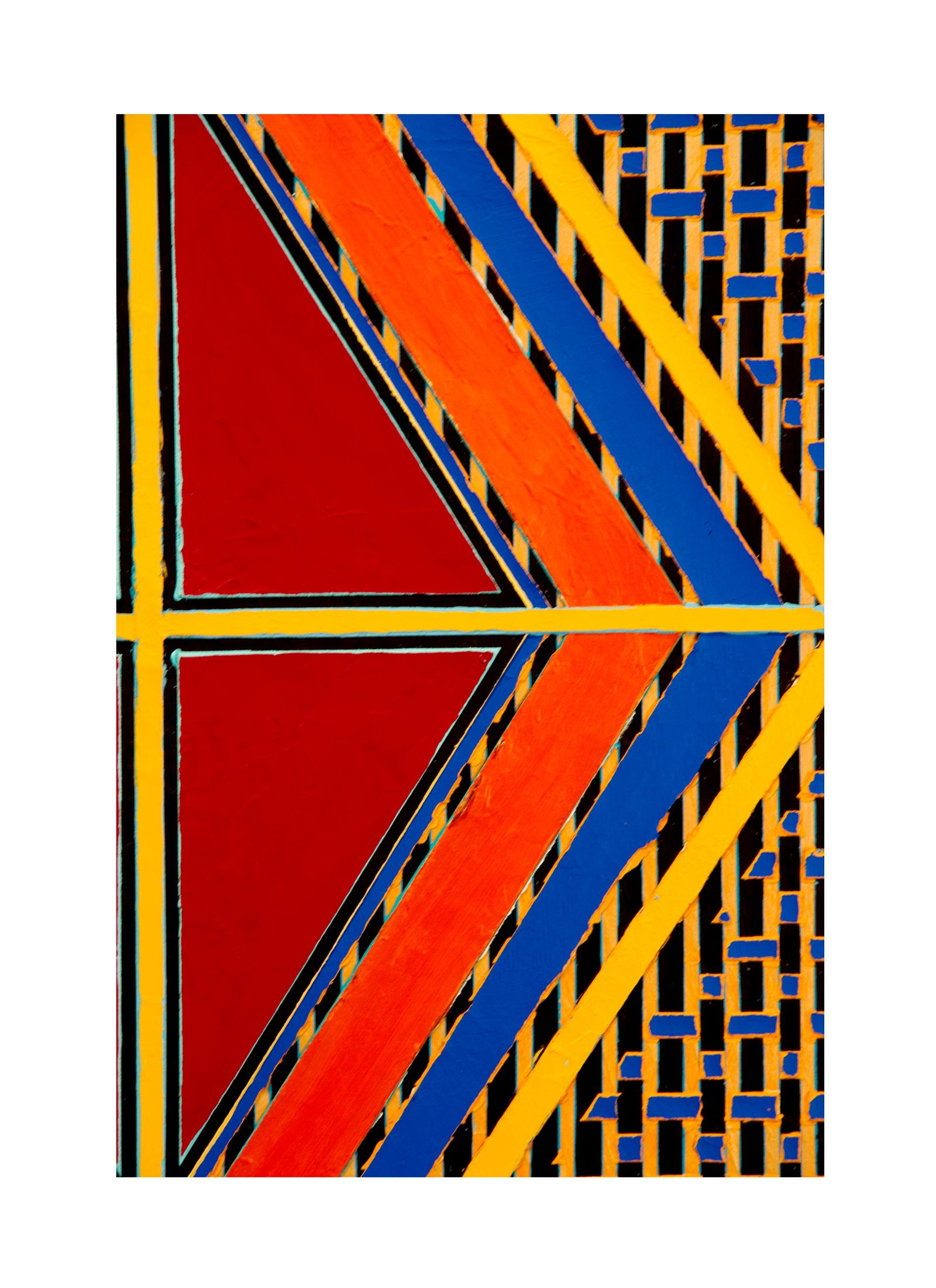 "2004 ""Red Diamond w. Yellow Cross""        Detail"