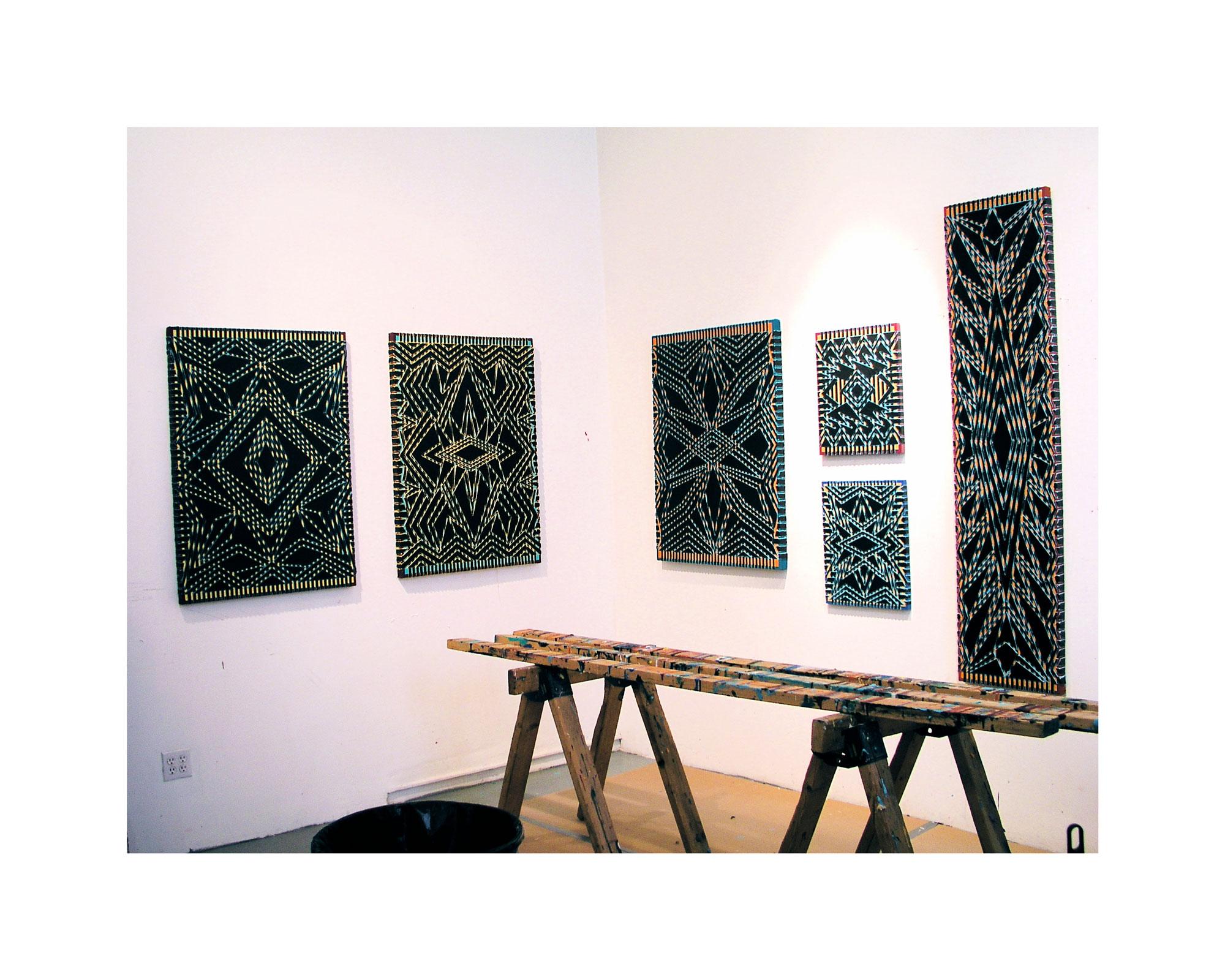 "2005 ""Black Diamonds in the Studio""  Acrylic on Canvas"