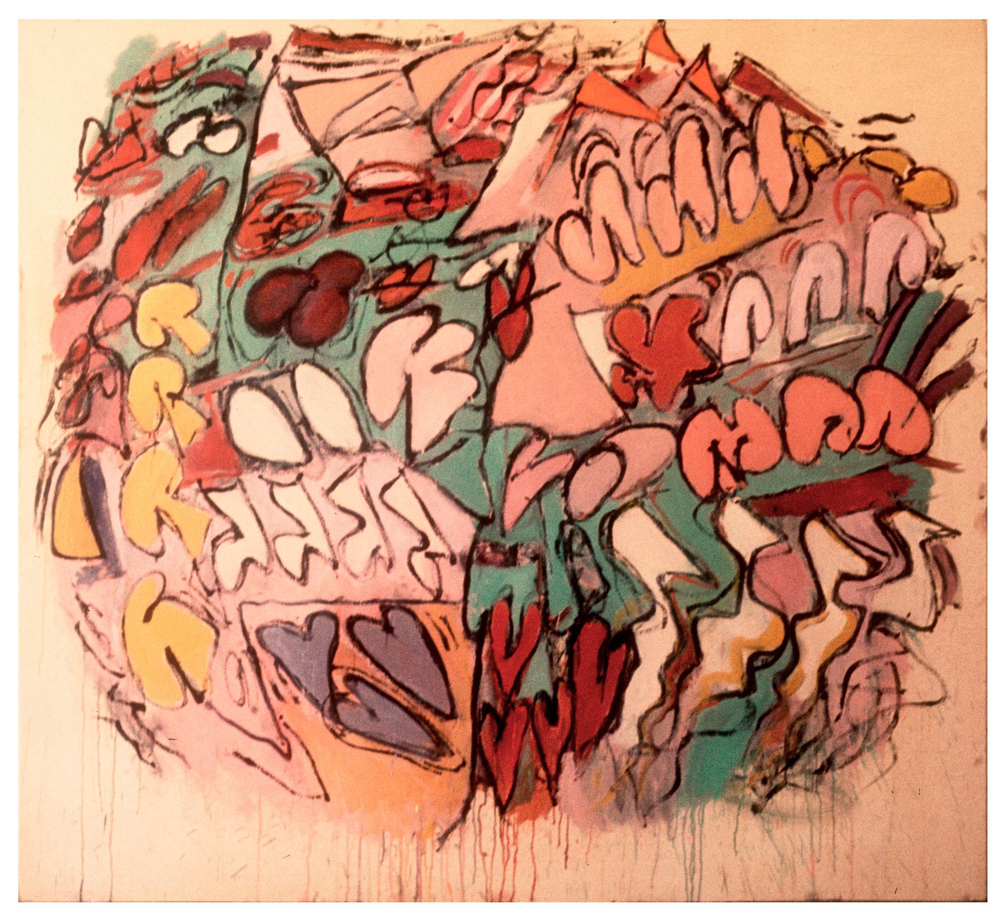 """1967 """"Frenzy""""  Oil on Canvas     64H x 70W"""