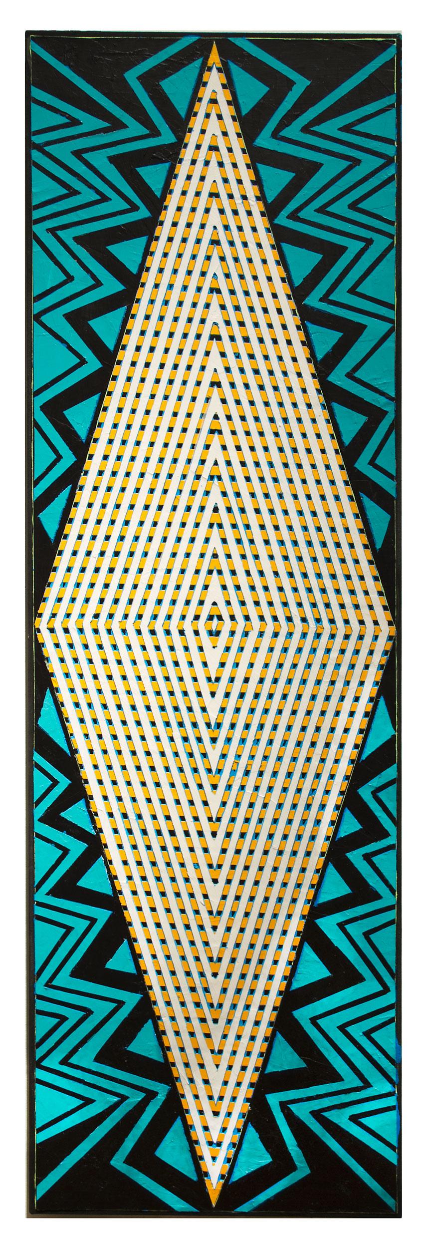 "2016 ""Iman""  Acrylic on Canvas 60H x 18W"