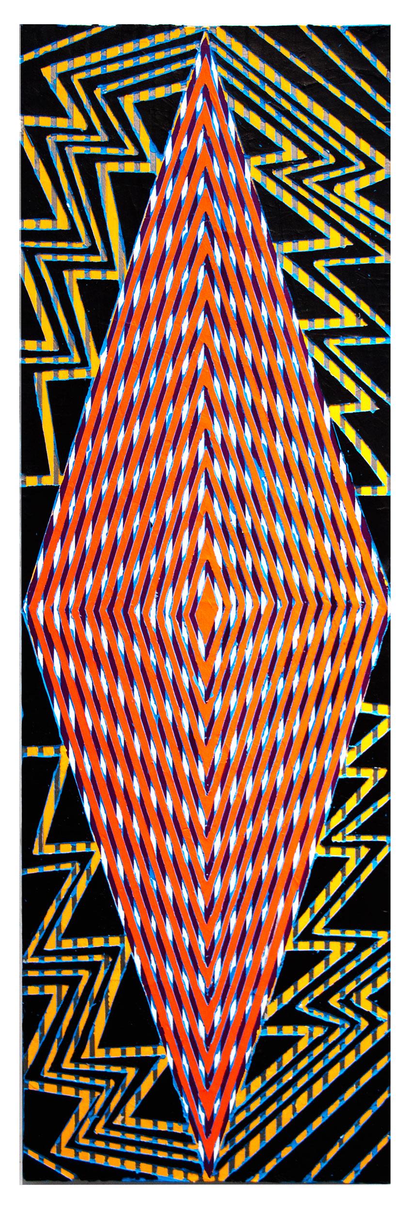 "2016 ""Feel the Bern""  Acrylic on Canvas 60H x 18W"