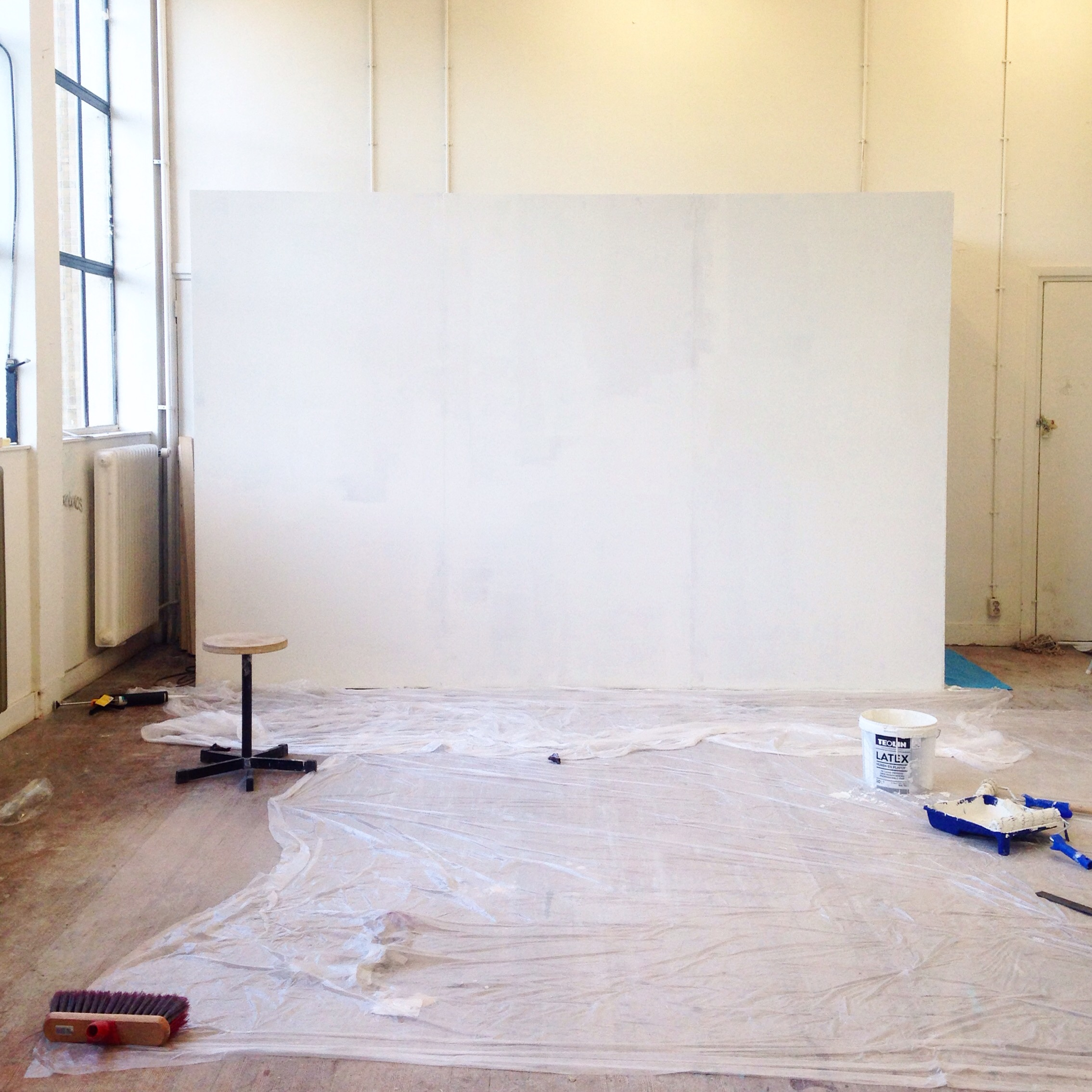Day 3: white! #white #building #inprogress #exhibition #july2016 #enforcedencounters
