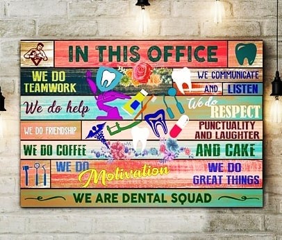 Although this sign isn't hanging in our office, it describes us pretty well! We all bring something different to the team and are all equally important ( ok well maybe Dr. C is a little above us 😃) .  #dentalteam#coworkersandfriends#chilliwackdentist#familydentist