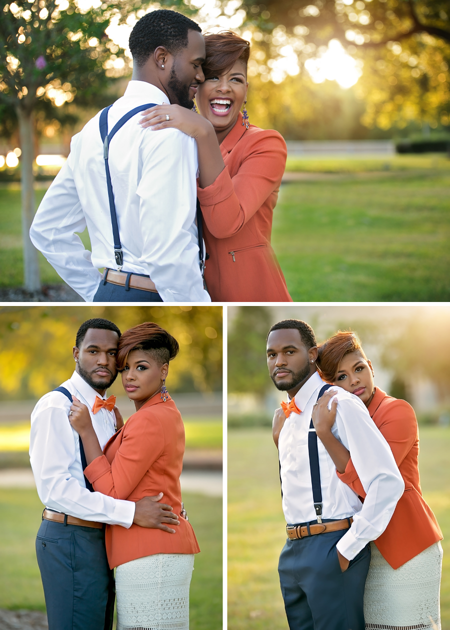 Perfectly styled engagement sessions