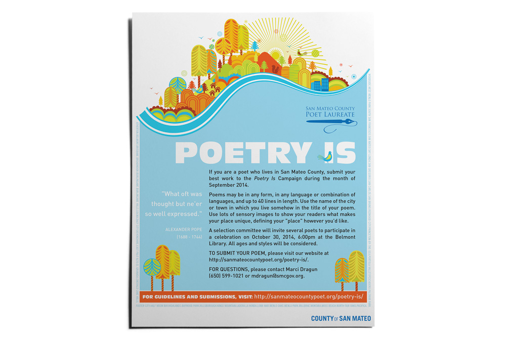poetry is flyer handout poster