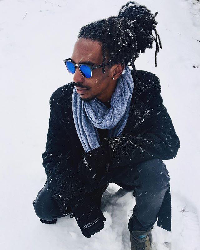 Adapt and overcome 👑 @iamkiprich  #winter #hair #locs #love