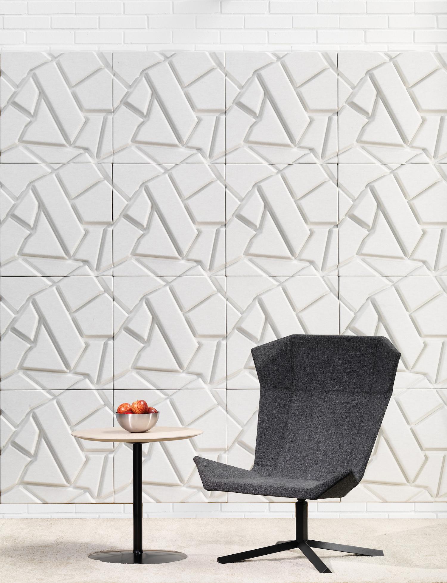 Wandabsorber Johanson Design «Cropfield» in weiss (off-white)