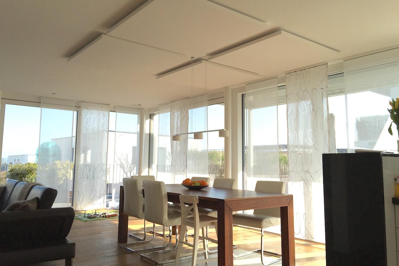 Raumakustik-Schalldämmung-Deckensegel-Ecophon-Solo-Wohnung-Haus-5