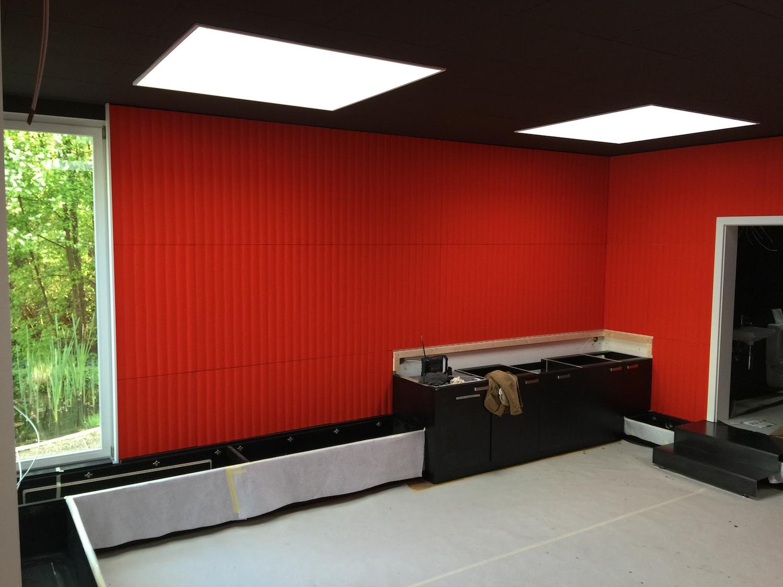 Wandabsorber Johanson Design «RibWall», rot-orange