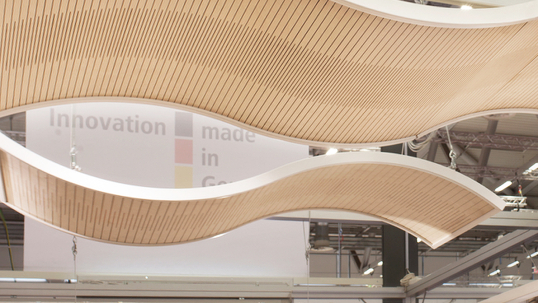 PLY PROJECT - Deckensegel aus flexiblem Holz