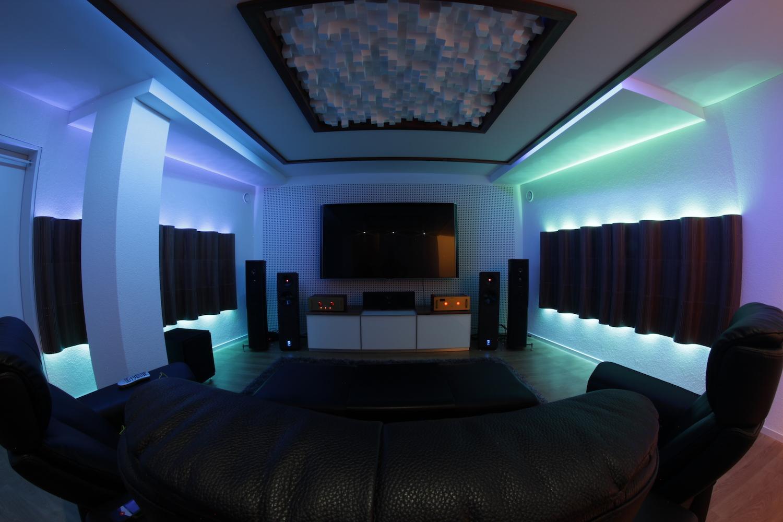 Das fertige Home-Cinema, nach allen Regeln der Kunst akustisch aufgebaut