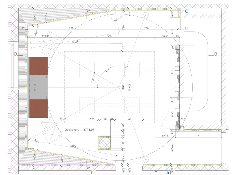 Planung der Home-Cinemas für den Kunden