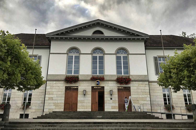Akustikdecke Spanndecke Grossratsgebäude Aarau Otto Kälin Saal1.jpg