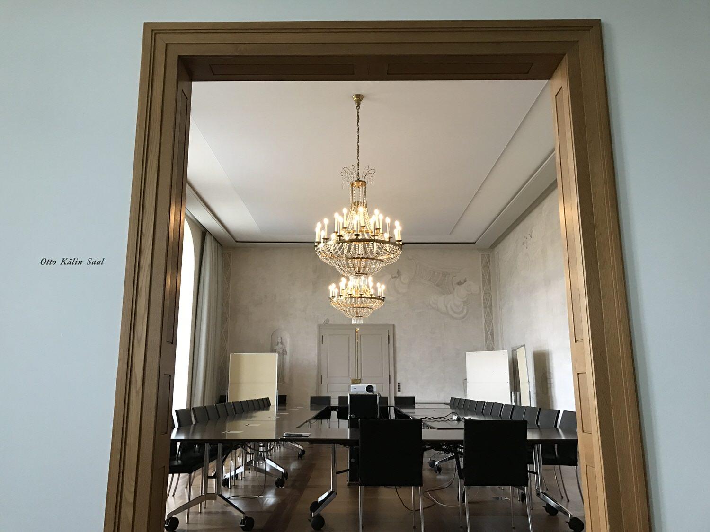 Einblck in den Otto Kälin Saal des Grossratsgebäudes Aarau