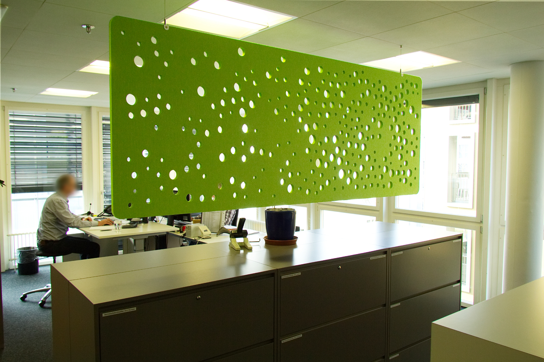 EchoCurtain® Bubble von EchoJazz im Grossraumbüro