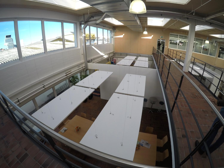 Ansicht der Akustik-Installation von oben