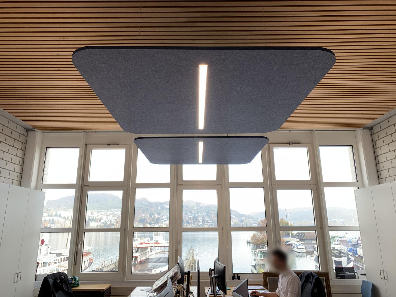 EchoPanel® Deckensegel Workplace LED Agnes