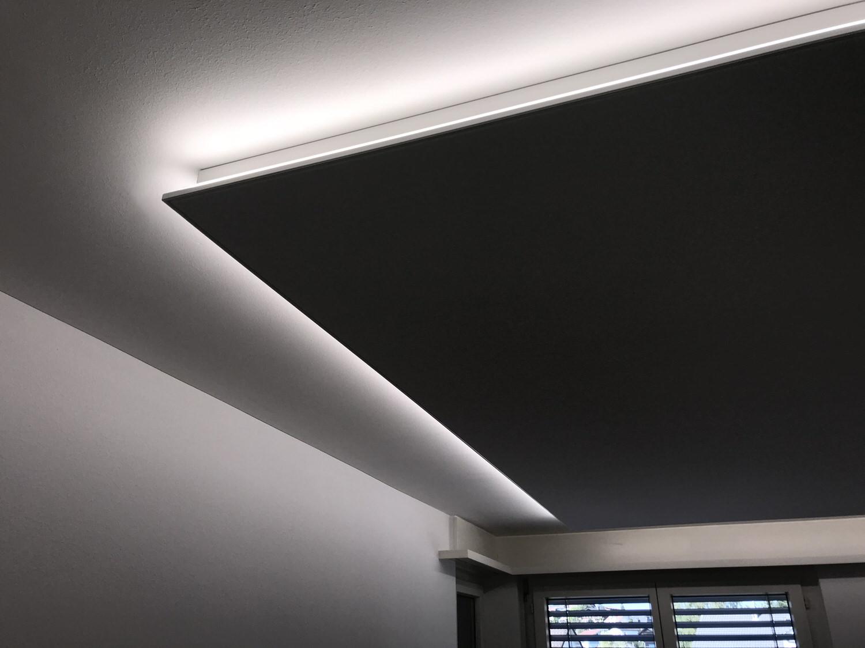 Eine Spanndecke mit integrierter Beleuchtung