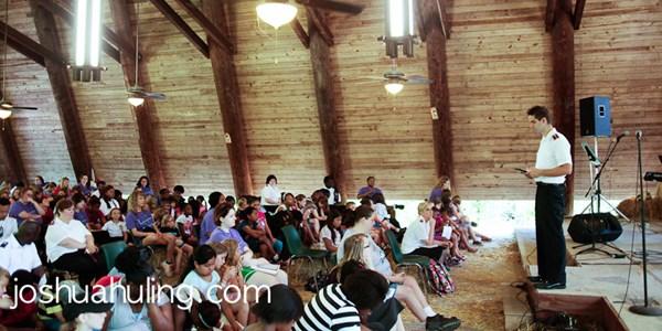 Inside the Margaret Replogle Outdoor Chapel