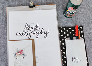 Brush Calligraphy Workshop 2017