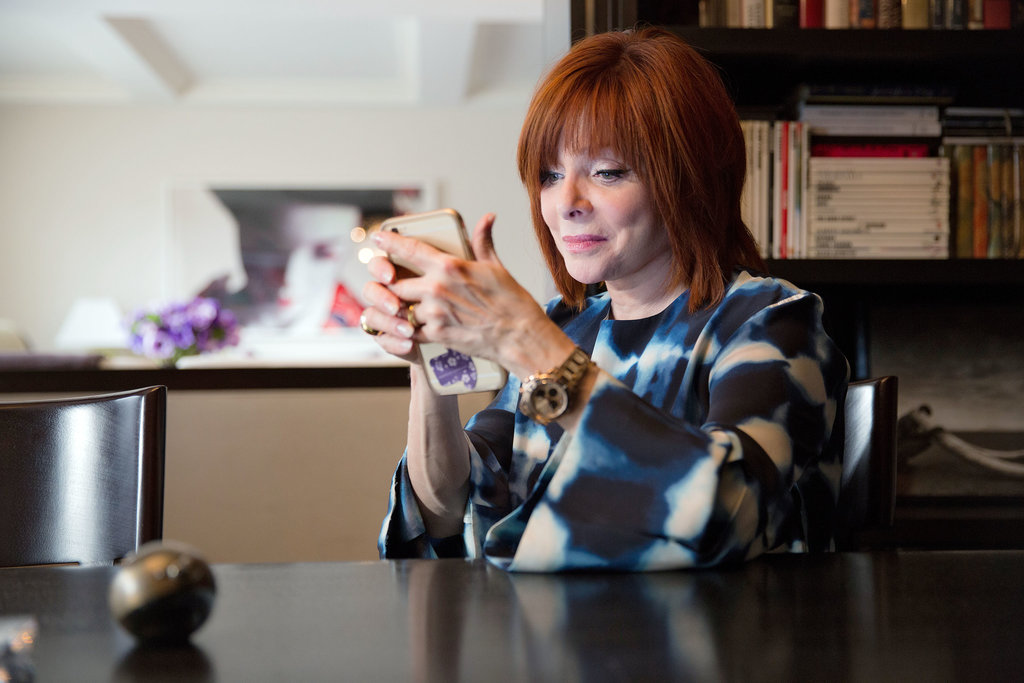Dr. Pat Wexler checking her Twitter feed (JK, not sure what she's doing). Photo: Tony Cenicola/The New York Times.
