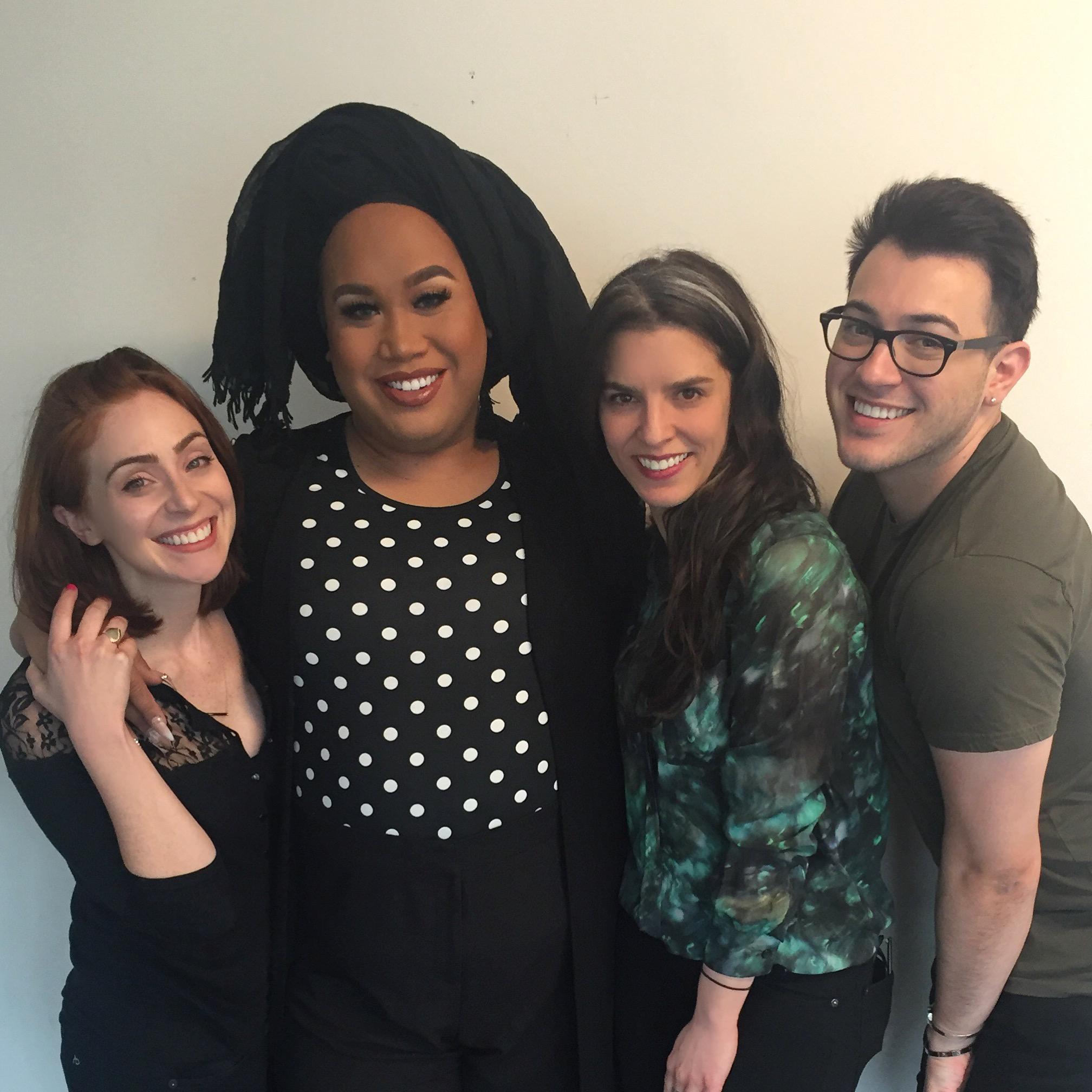 Jess, Patrick, Jenn, and Manny in the Fat Mascara studio