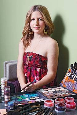 Makeup artist Emily Kate Warren, founder of boxcar+muse