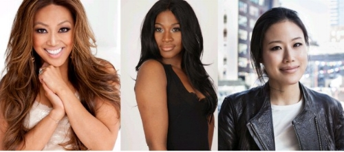 Mally Roncal of Mally Beauty, celebrity hair stylist Ursula Stephen,and Alicia Yoon of Peach and Lily