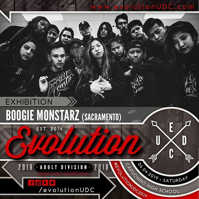 "Evolution 2019: Urban Dance Competition⠀ Presented by: @soulidifiedproject & @reDEFINEdanceCo⠀ -⠀ 05.04.2019 | Saturday⠀ Capuchino High School | Samuel Johnson, Jr. Performing Arts Center⠀ Doors Open: 5:30pm | Show Starts: 6:00pm⠀ -⠀ Exhibition Team: BOOGIE MONSTARZ (@boogiemonstarz)⠀ -⠀ Boogie Monstarz is a crew of individuals brought together by sharing the same vibes of music and dance. With no trend to follow but their own, they aim to inspire confidence to ""step out of the shadowz."" While representing the 916 and Fam Royale, they are artists of their own, dancers as a crew, and together, they shine bright.⠀ ---⠀ To purchase pre-sale tickets online, visit the link on our bio.⠀ https://buff.ly/2GoVLtb⠀ ---⠀ #create. #dance. #evolve⠀ -⠀ #evolutionUDC2019 #urbandancecompetition #choreography #dancecompetition #hiphopdance #bayareadancecommunity"
