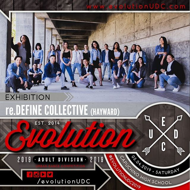 Evolution 2019: Urban Dance Competition⠀ Presented by: @soulidifiedproject & @reDEFINEdanceCo⠀ -⠀ 05.04.2019 | Saturday⠀ Capuchino High School | Samuel Johnson, Jr. Performing Arts Center⠀ Doors Open: 5:30pm | Show Starts: 6:00pm⠀ -⠀ Exhibition Team: re.DEFINE DANCE COLLECTIVE (@reDEFINEdanceCo)⠀ -⠀ re.DEFINE Collective is our adult urban dance company. Established in 2006 as a youth dance team, re.DEFINE has since evolved into an adult urban dance Collective. Our focus is to continue to create dancers that are not only passionate dancers, but well rounded individuals. ⠀ Our goal is to maintain a high standard in training, knowledge of history, and sense of community. There's the family that you're born into, the family you create, and the family you audition for. ⠀ ---⠀ To purchase pre-sale tickets online, visit the link on our bio.⠀ https://soulidifiedproject.ticketspice.com/evolutionudc2019⠀ ---⠀ #create. #dance. #evolve⠀ -⠀ #evolutionUDC2019 #urbandancecompetition #choreography #dancecompetition #hiphopdance #bayareadancecommunity