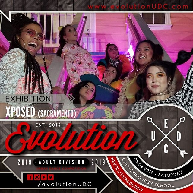 Evolution 2019: Urban Dance Competition⠀ Presented by: @soulidifiedproject & @reDEFINEdanceCo⠀ -⠀ 05.04.2019 | Saturday⠀ Capuchino High School | Samuel Johnson, Jr. Performing Arts Center⠀ Doors Open: 5:30pm | Show Starts: 6:00pm⠀ -⠀ Exhibition Team: XPOSED (@xposeddanceco)⠀ -⠀ Xposed is an all female company that has been in effect sense 2007. They pride themselves in feminine movement which ranges from waacking, jazz funk, heels choreography and now exploring vogue.⠀ ---⠀ To purchase pre-sale tickets online, visit the link on our bio.⠀ https://soulidifiedproject.ticketspice.com/evolutionudc2019⠀ ---⠀ #create. #dance. #evolve⠀ -⠀ #evolutionUDC2019 #urbandancecompetition #choreography #dancecompetition #hiphopdance #bayareadancecommunity