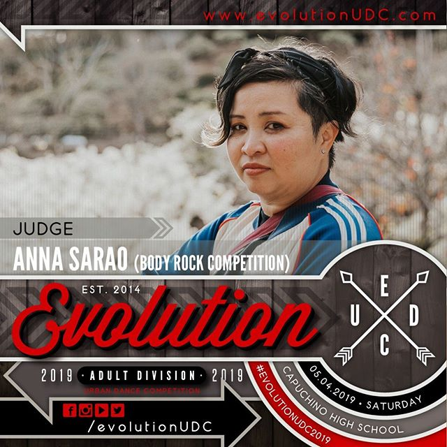 Evolution 2019: Urban Dance Competition⠀ Presented by: @soulidifiedproject & @reDEFINEdanceCo⠀ -⠀ 05.04.2019 | Saturday⠀ Capuchino High School | Samuel Johnson, Jr. Performing Arts Center⠀ Doors Open: 5:30pm | Show Starts: 6:00pm⠀ -⠀ Judge: Anna Sarao (@annasara0)⠀ -⠀ • Founder | Owner of @officialbodyrocksd⠀ • Alumni Artistic Director of ⠀  Culture Shock SD, Alumni of SGBM⠀ • Host of Boba Talk.⠀ ---⠀ To purchase pre-sale tickets online, visit the link on our bio.⠀ https://soulidifiedproject.ticketspice.com/evolutionudc2019⠀ ---⠀ #create. #dance. #evolve⠀ -⠀ #evolutionUDC2019 #urbandancecompetition #choreography #dancecompetition #hiphopdance #bayareadancecommunity