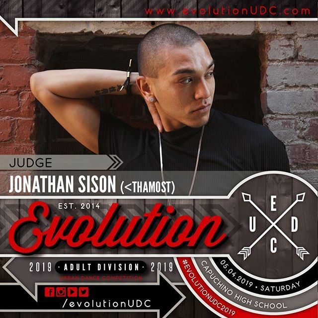 Evolution 2019: Urban Dance Competition⠀ Presented by: @soulidifiedproject & @reDEFINEdanceCo⠀ -⠀ 05.04.2019 | Saturday⠀ Capuchino High School | Samuel Johnson, Jr. Performing Arts Center⠀ Doors Open: 5:30pm | Show Starts: 6:00pm⠀ -⠀ Judge: Jonathan Sison (@jonathansison92)⠀ -⠀ • 6 years of being a company member on Culture Shock San Diego was given the opportunity to direct the professional company for about a year and a half. ⠀ • 2015 founded his own project based company
