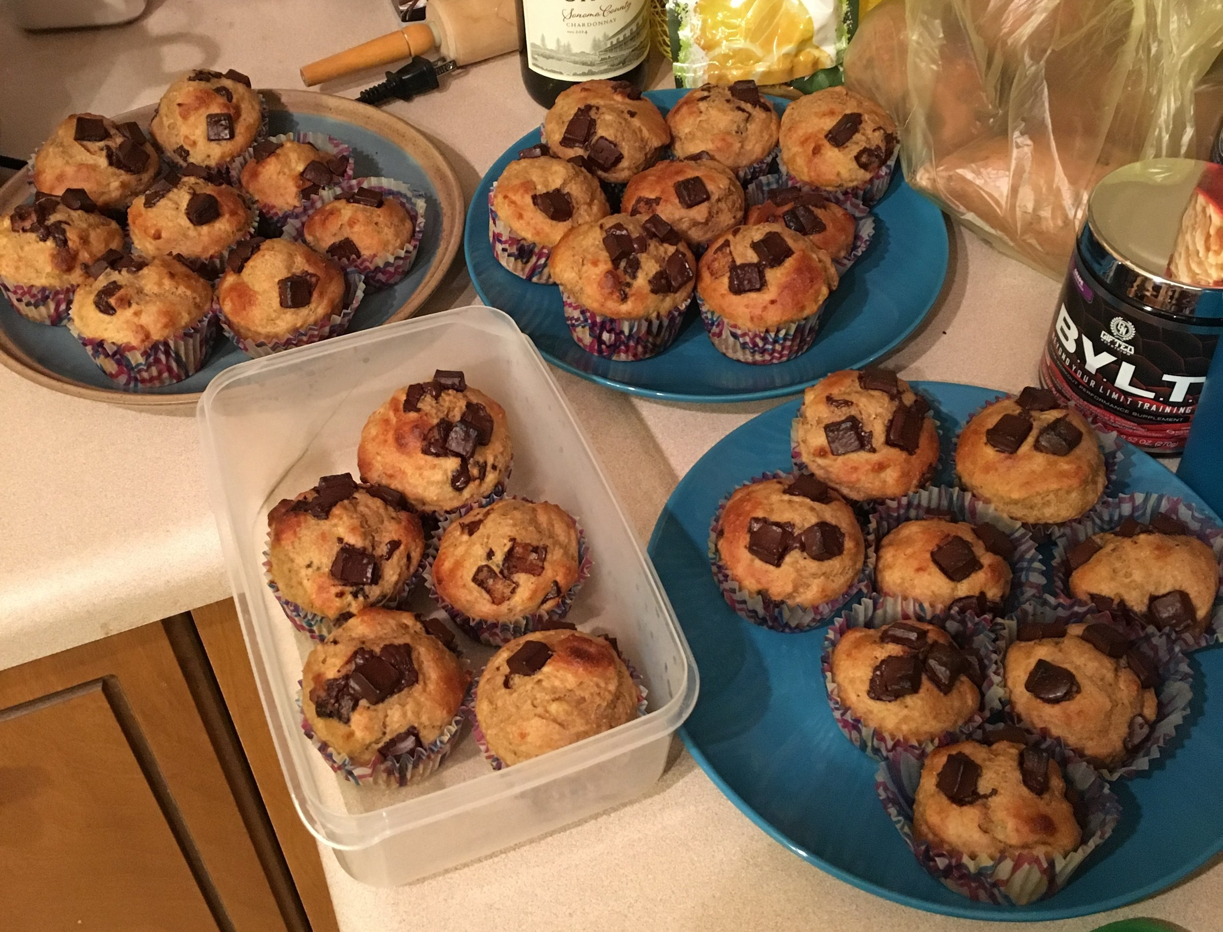 I buried myself in muffins.